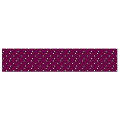 Pink Flowers Magenta Small Flano Scarf