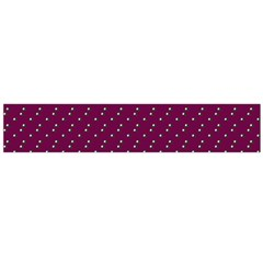 Pink Flowers Magenta Large Flano Scarf