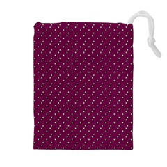 Pink Flowers Magenta Drawstring Pouches (extra Large)