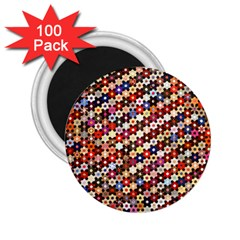 Mosaic Pattern Quilt Pattern 2 25  Magnet (100 Pack)