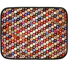 Mosaic Pattern Quilt Pattern Fleece Blanket (mini)