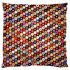 Mosaic Pattern Quilt Pattern Large Cushion Case (two Sides)