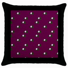 Pink Flowers Magenta Big Throw Pillow Case (black)
