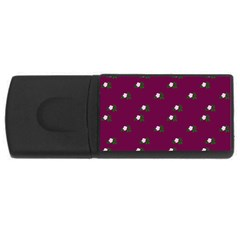Pink Flowers Magenta Big Rectangular Usb Flash Drive