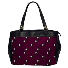 Pink Flowers Magenta Big Office Handbags