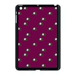 Pink Flowers Magenta Big Apple Ipad Mini Case (black)