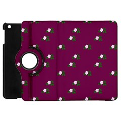 Pink Flowers Magenta Big Apple Ipad Mini Flip 360 Case