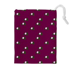 Pink Flowers Magenta Big Drawstring Pouches (extra Large)