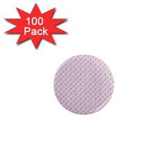 Pink Flowers Pink 1  Mini Magnets (100 Pack)