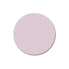 Pink Flowers Pink Magnet 3  (round)
