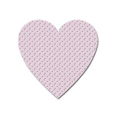 Pink Flowers Pink Heart Magnet