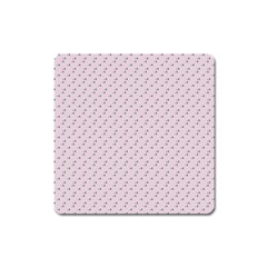 Pink Flowers Pink Square Magnet
