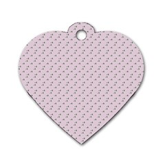 Pink Flowers Pink Dog Tag Heart (two Sides)