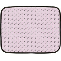 Pink Flowers Pink Fleece Blanket (mini)