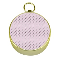 Pink Flowers Pink Gold Compasses