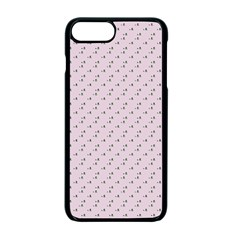 Pink Flowers Pink Apple Iphone 7 Plus Seamless Case (black)