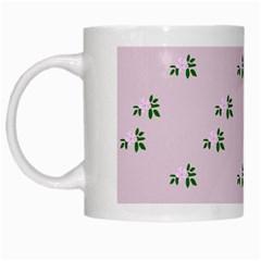 Pink Flowers Pink Big White Mugs
