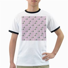 Pink Flowers Pink Big Ringer T Shirts