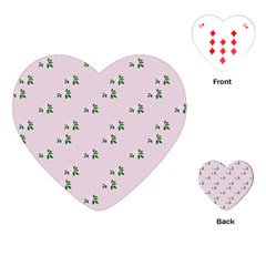 Pink Flowers Pink Big Playing Cards (heart)