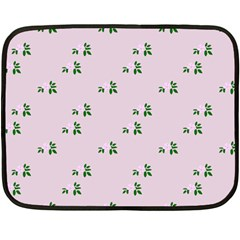 Pink Flowers Pink Big Fleece Blanket (mini)