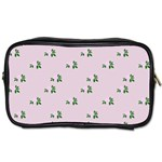Pink Flowers Pink Big Toiletries Bags 2-Side Front