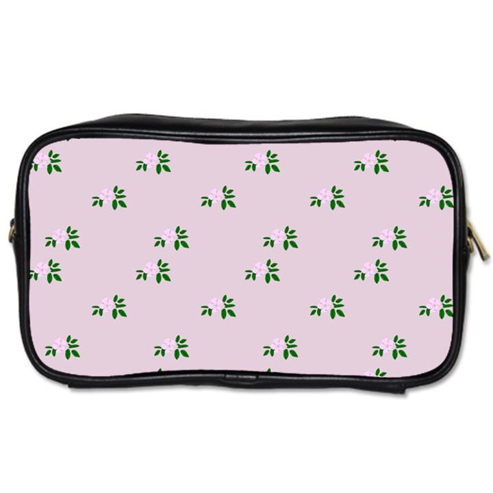 Pink Flowers Pink Big Toiletries Bags 2-Side