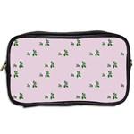 Pink Flowers Pink Big Toiletries Bags 2-Side Back