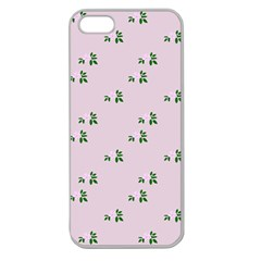 Pink Flowers Pink Big Apple Seamless Iphone 5 Case (clear)