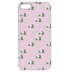 Pink Flowers Pink Big Apple Iphone 5 Hardshell Case With Stand