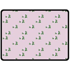 Pink Flowers Pink Big Double Sided Fleece Blanket (large)
