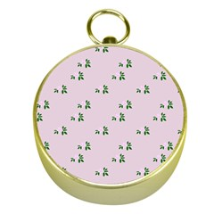 Pink Flowers Pink Big Gold Compasses
