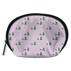 Pink Flowers Pink Big Accessory Pouches (medium)