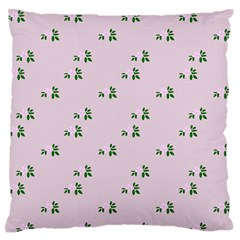 Pink Flowers Pink Big Standard Flano Cushion Case (two Sides)