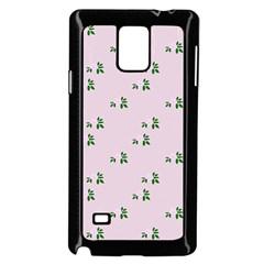Pink Flowers Pink Big Samsung Galaxy Note 4 Case (black)