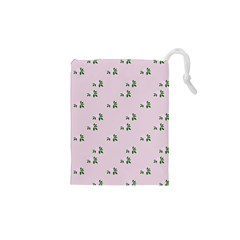 Pink Flowers Pink Big Drawstring Pouches (xs)