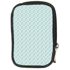 Pink Flowers Blue Compact Camera Cases