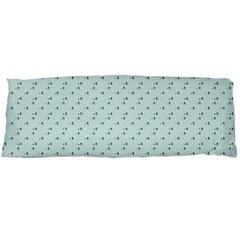 Pink Flowers Blue Body Pillow Case (dakimakura)