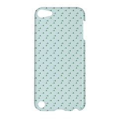 Pink Flowers Blue Apple Ipod Touch 5 Hardshell Case