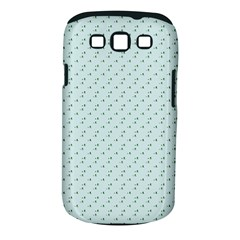 Pink Flowers Blue Samsung Galaxy S Iii Classic Hardshell Case (pc+silicone)