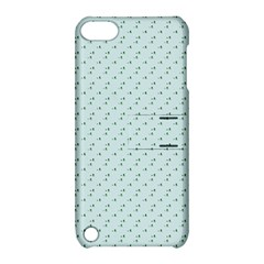 Pink Flowers Blue Apple Ipod Touch 5 Hardshell Case With Stand