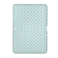 Pink Flowers Blue Samsung Galaxy Tab 2 (10 1 ) P5100 Hardshell Case