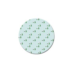 Pink Flowers Blue Big Golf Ball Marker (4 Pack)