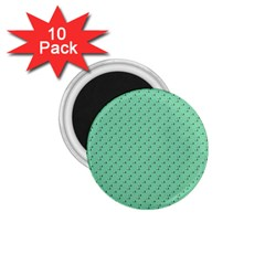 Pink Flowers Green 1 75  Magnets (10 Pack)
