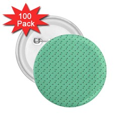 Pink Flowers Green 2 25  Buttons (100 Pack)