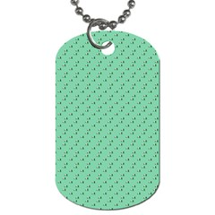 Pink Flowers Green Dog Tag (one Side)