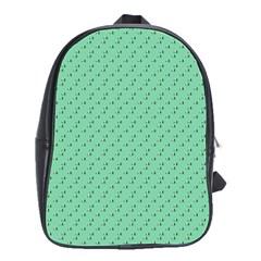 Pink Flowers Green School Bag (large)