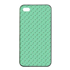 Pink Flowers Green Apple Iphone 4/4s Seamless Case (black)