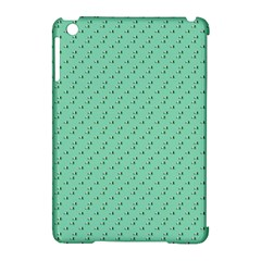 Pink Flowers Green Apple Ipad Mini Hardshell Case (compatible With Smart Cover)
