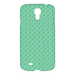 Pink Flowers Green Samsung Galaxy S4 I9500/i9505 Hardshell Case