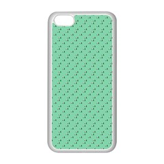 Pink Flowers Green Apple Iphone 5c Seamless Case (white)